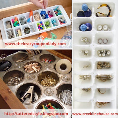 Canva ice tray - ORGANIZING FAVOURITES: NO-COST ORGANIZING IDEAS USING WHAT YOU HAVE