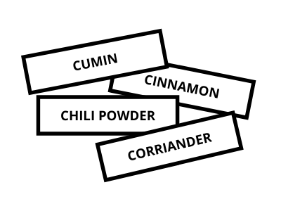 Canva labels - 26 EASY WAYS TO ORGANIZE YOUR SPICES