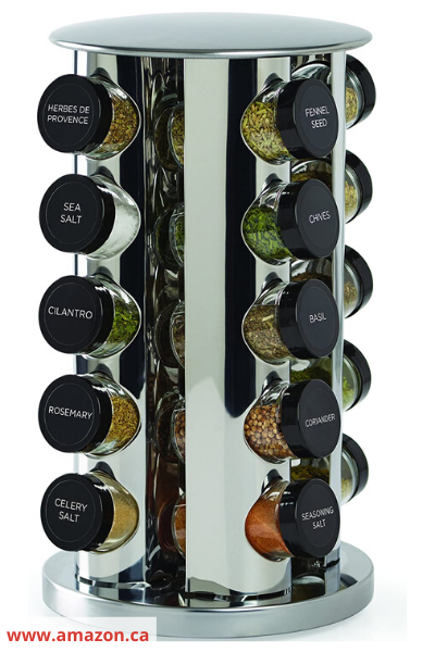 Canva spice turntable - 26 EASY WAYS TO ORGANIZE YOUR SPICES