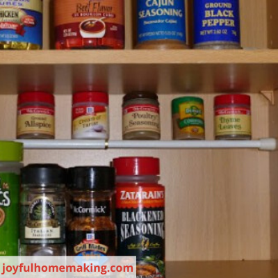 Canva tension rod - 26 EASY WAYS TO ORGANIZE YOUR SPICES