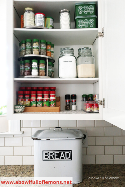 Canva turntables - 26 EASY WAYS TO ORGANIZE YOUR SPICES