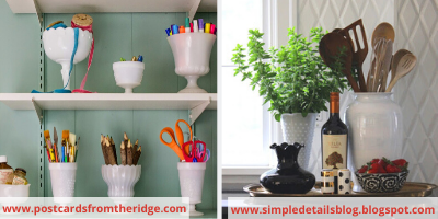 Canva vases - ORGANIZING FAVOURITES: NO-COST ORGANIZING IDEAS USING WHAT YOU HAVE
