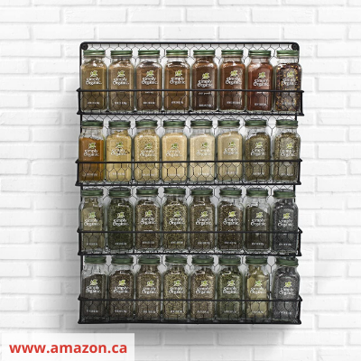 Canva wire wall - 26 EASY WAYS TO ORGANIZE YOUR SPICES