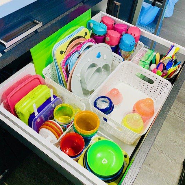 After kids drawer - NEW KITCHEN UNPACKING & ORGANIZING