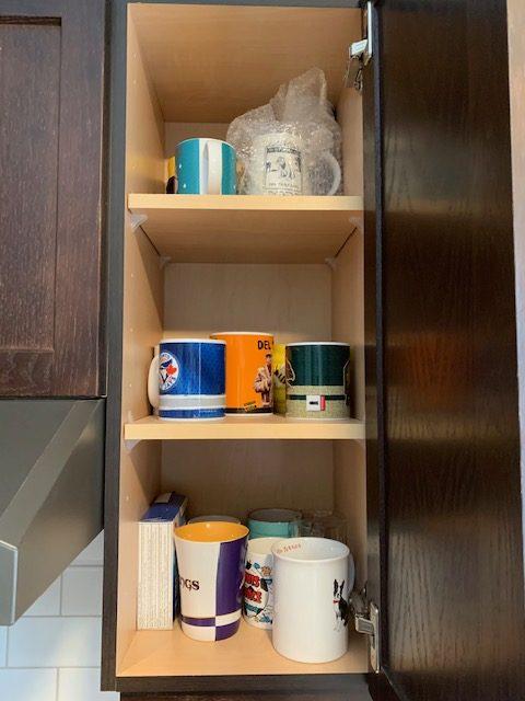 Mugs before rotated - NEW KITCHEN UNPACKING & ORGANIZING