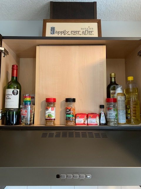 Spices before rotated - NEW KITCHEN UNPACKING & ORGANIZING