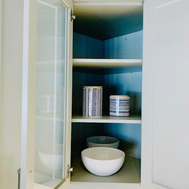 corner cupboard after - NEW KITCHEN UNPACKING & ORGANIZING