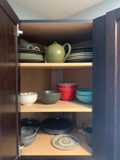 dishes before rotated - NEW KITCHEN UNPACKING & ORGANIZING