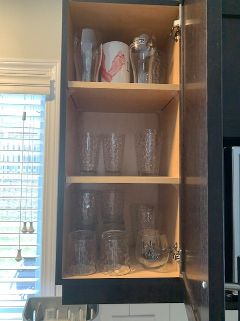 glasses before rotated - NEW KITCHEN UNPACKING & ORGANIZING