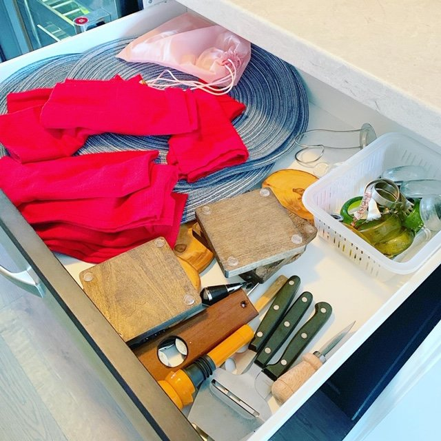 serving drawer before - Projects