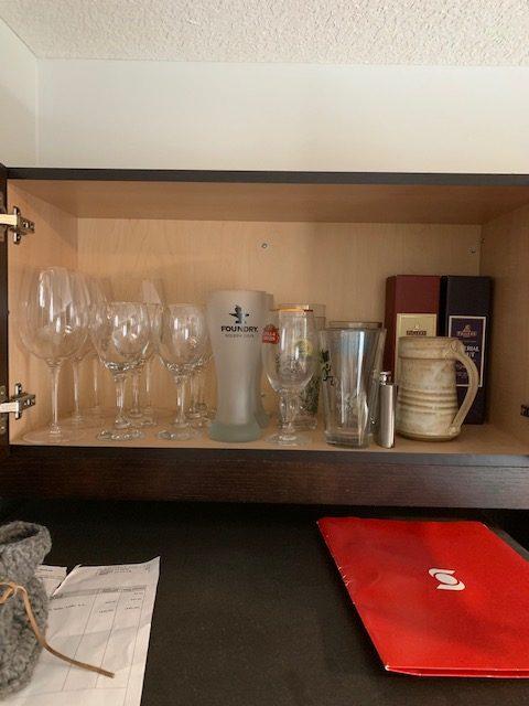 wine glasses before rotated - NEW KITCHEN UNPACKING & ORGANIZING