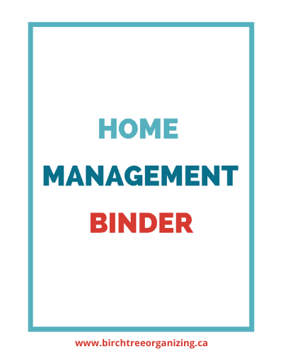 Canva HMB cover - Get Organized With a Home Management Binder (+38 Free Printables)