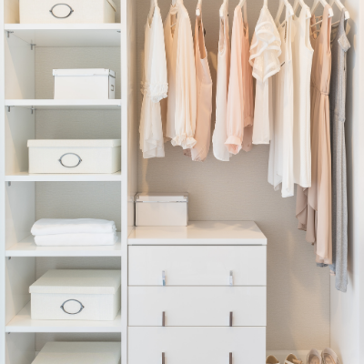 long items together - 12 Easy Tips To Maximize Closet Space