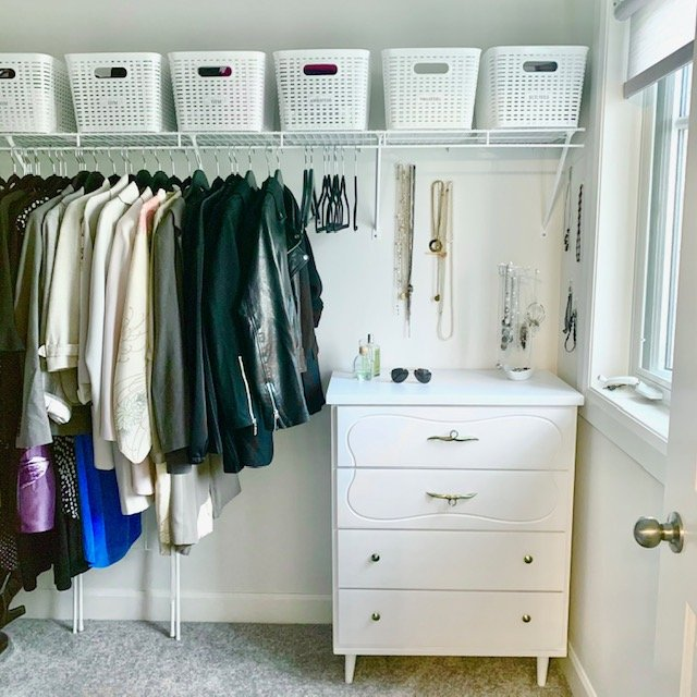 From door looking straight AFTER - Principal Closet Before and After Pictures