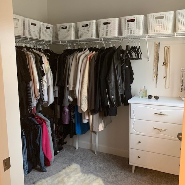 Middle of closet AFTER - Principal Closet Before and After Pictures