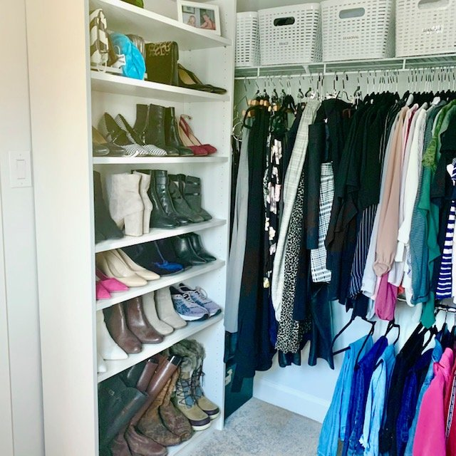 Shoes AFTER - Principal Closet Before and After Pictures