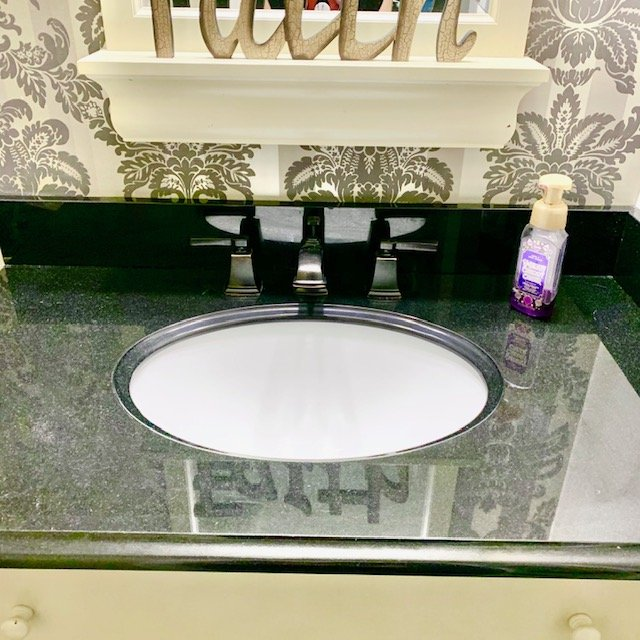 counter top AFTER - Bathroom Cabinet Before and After Pictures