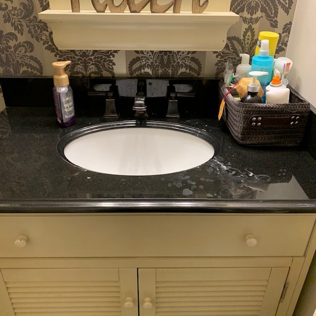 countertop BEFORE rotated - Bathroom Cabinet Before and After Pictures