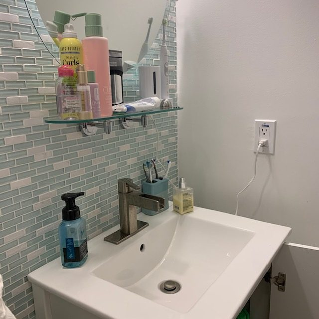 sink before rotated - Small Bathroom Cabinet Before and After Pictures