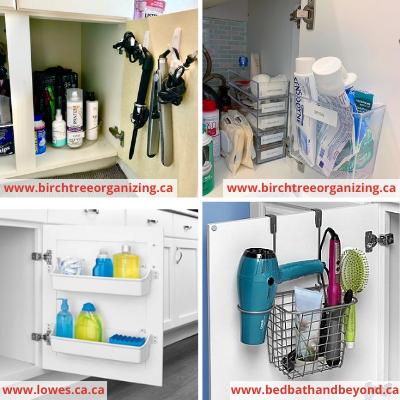Cabinet doors Under sink organization - 8 EASY WAYS TO ORGANIZE UNDER THE SINK