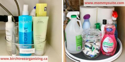 Turntables Under sink organization - 8 EASY WAYS TO ORGANIZE UNDER THE SINK