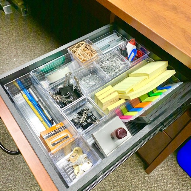 AFter top drawer - Office Desk and Filing Before and After Pictures