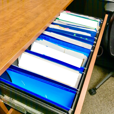 After canva upper filing drawer - Office Desk and Filing Before and After Pictures