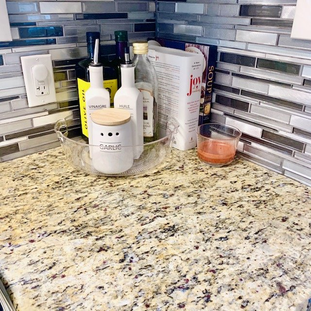 After counter under wine glasses - SMALL KITCHEN BEFORE AND AFTER PICTURES PART 1: COUNTERS