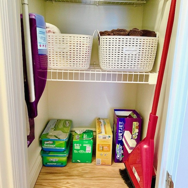 After floor - Small Multi-Use Linen Closet Before and After Pictures