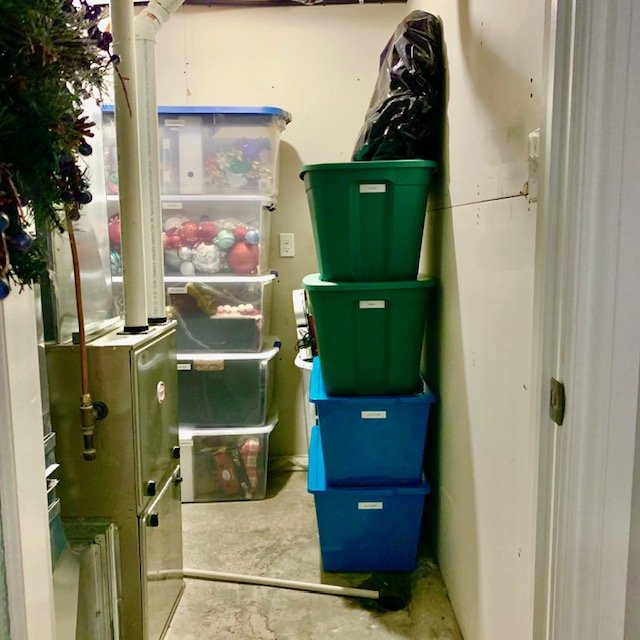 After from door looking in - BASEMENT FURNACE AND STORAGE ROOM BEFORE AND AFTER PICTURES