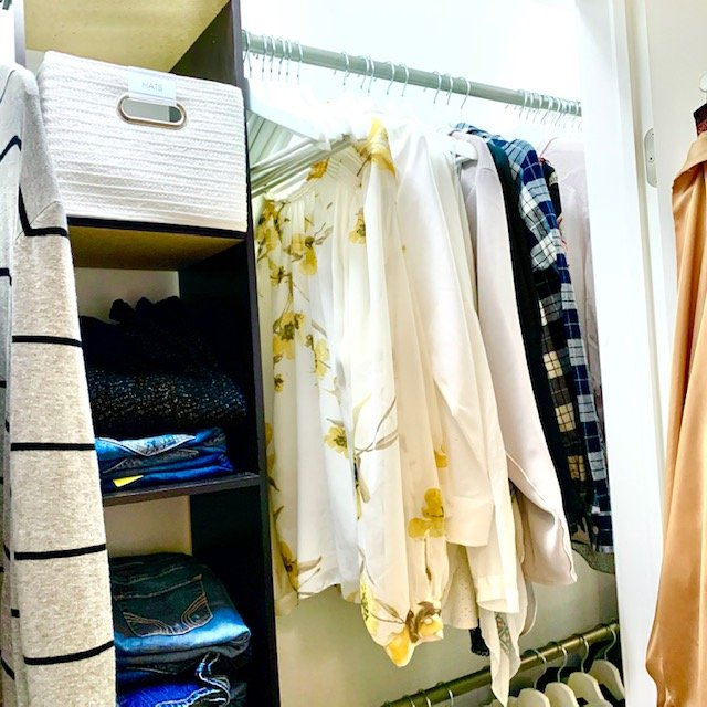 After upper hagning blouses - Reach-In Closet Before and After Pictures