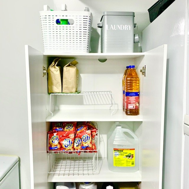 After upper shelves - LAUNDRY ROOM BEFORE AND AFTER PICTURES