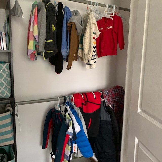 Angle wall before rotated - BABY REACH-IN CLOSET BEFORE AND AFTER PICTURES