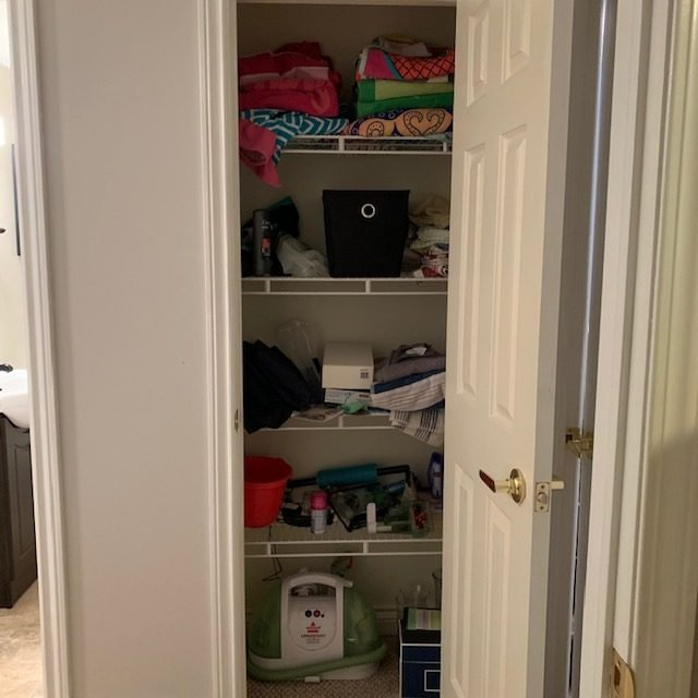 Before full 1 rotated - Reach-In Storage Closet Before and After Pictures