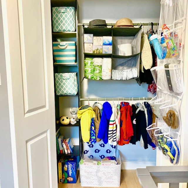 Full After - BABY REACH-IN CLOSET BEFORE AND AFTER PICTURES
