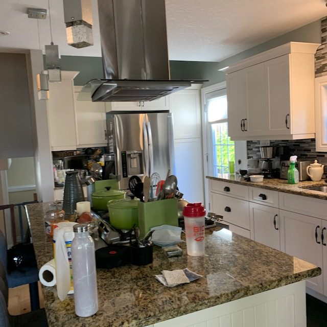Kitchen Counters from front angle rotated - SMALL KITCHEN BEFORE AND AFTER PICTURES PART 1: COUNTERS