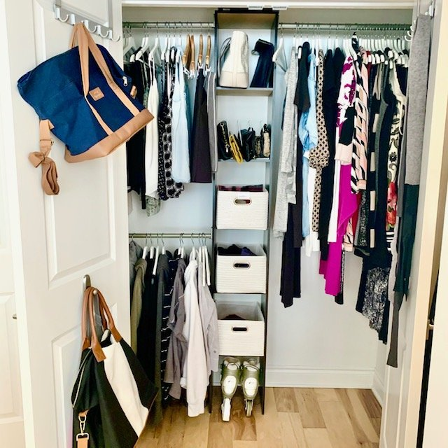Right side full after - Reach-In Closet Before and After Pictures