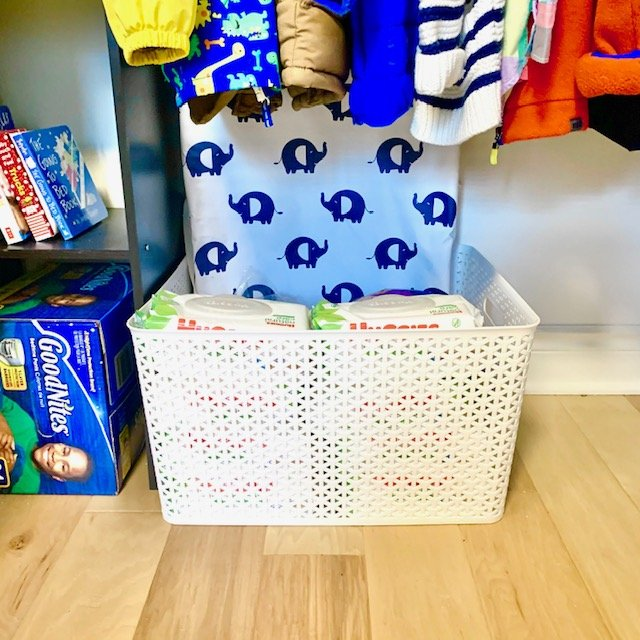 backstock basket after - BABY REACH-IN CLOSET BEFORE AND AFTER PICTURES