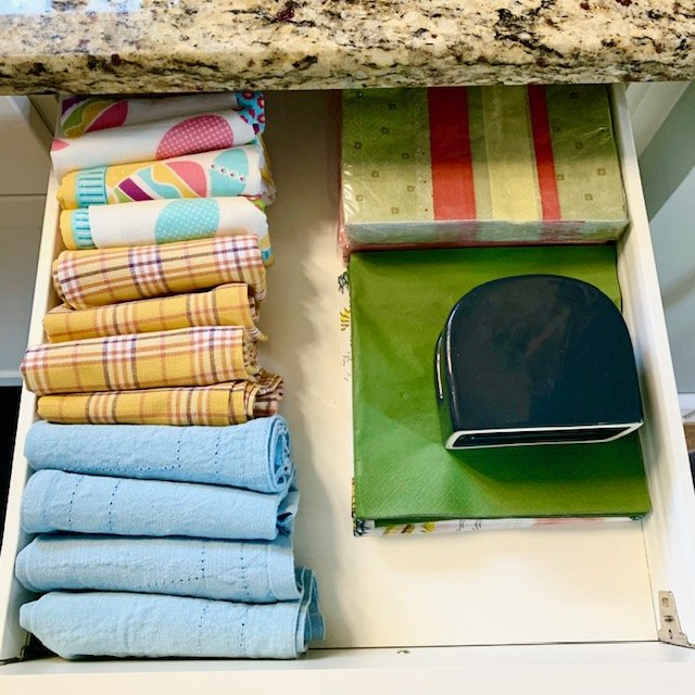 AFTER Napkin drawer - SMALL KITCHEN BEFORE AND AFTER PICTURES PART 2: CABINETS & DRAWERS