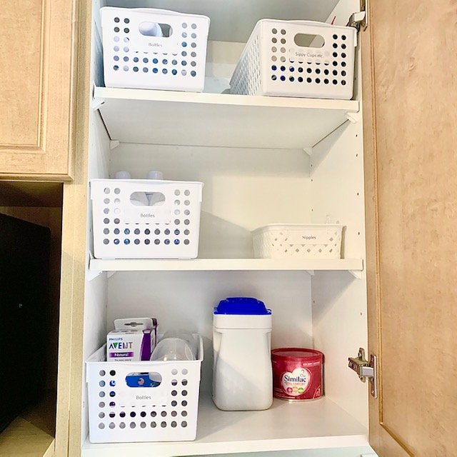 After baby bottles - SMALL KITCHEN ORGANIZATION BEFORE AND AFTER PICTURES