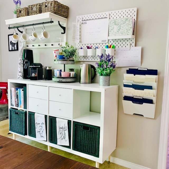 After coffee station - SMALL KITCHEN ORGANIZATION BEFORE AND AFTER PICTURES