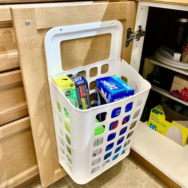 After plastic wrap - SMALL KITCHEN ORGANIZATION BEFORE AND AFTER PICTURES