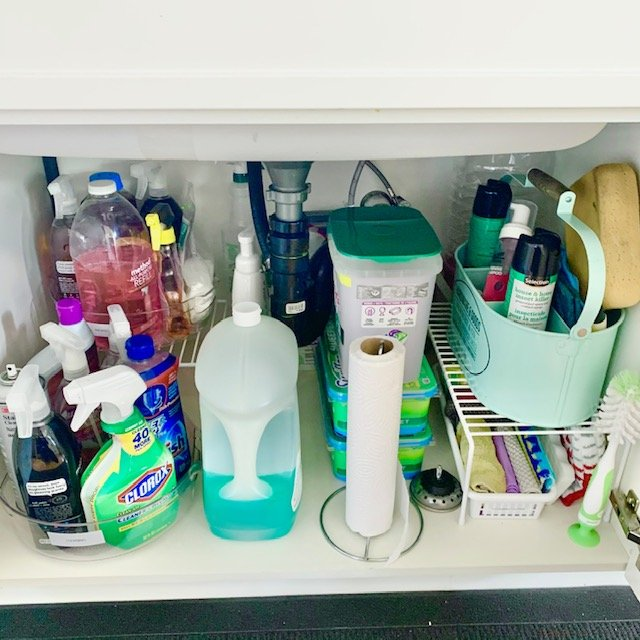 After under sink - SMALL KITCHEN BEFORE AND AFTER PICTURES PART 2: CABINETS & DRAWERS