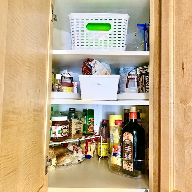 After upper corner cabinet - SMALL KITCHEN ORGANIZATION BEFORE AND AFTER PICTURES