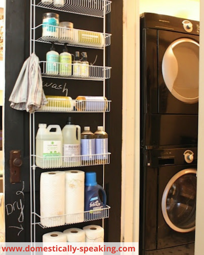 Canva cleaning supplies - Fast & Easy Back of Cabinet & Door Storage Ideas