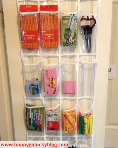 Canva office supplies - Fast & Easy Back of Cabinet & Door Storage Ideas